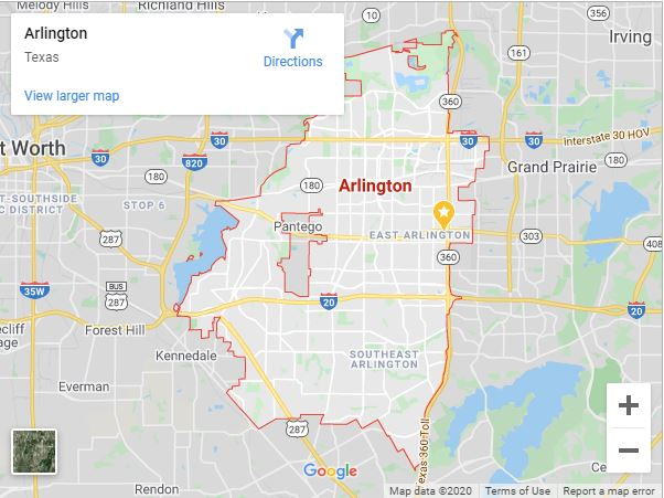 Arlington Tx Map