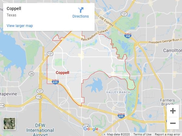 Coppell Tx Map