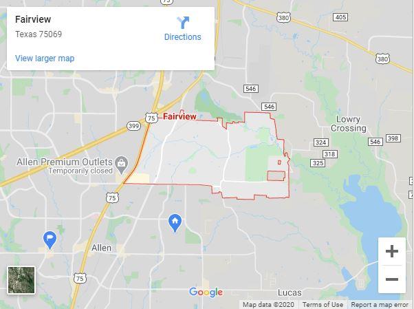 Fairview Tx Map