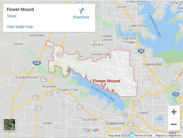 Flower Mound Tx Map
