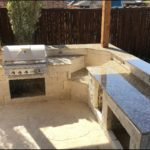Giallo Fiorito Granite Outdoor Kitchen Countertops