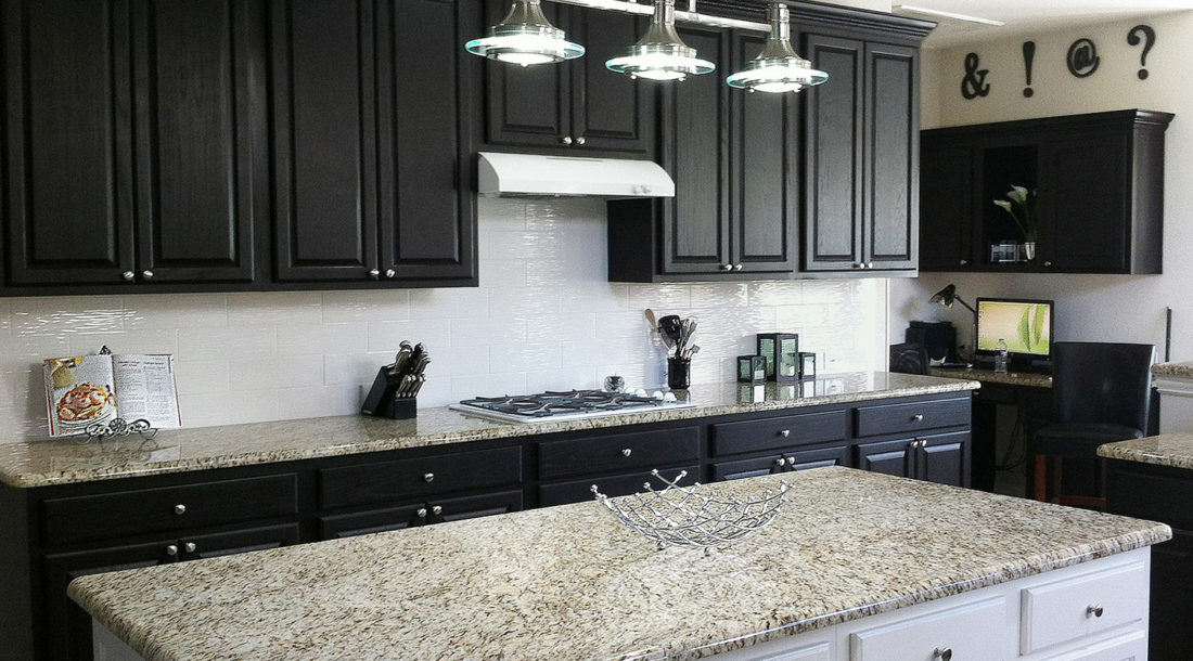 Giallo Ornamental Granite Kitchen Countertops