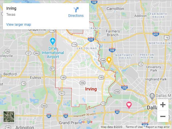 Irving Tx Map