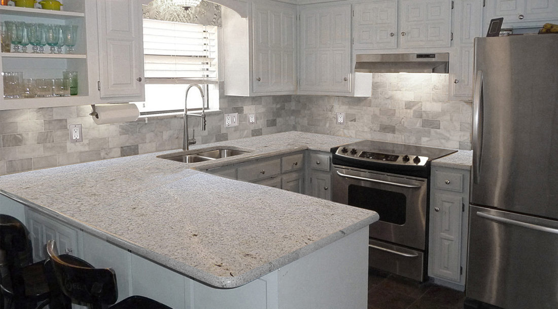 Kashmire White Granite Kitchen Countertops