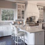 Organic White Quartz Kitchen Countertops