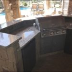 Santa Cecelia Granite Outdoor Kitchen Countertops