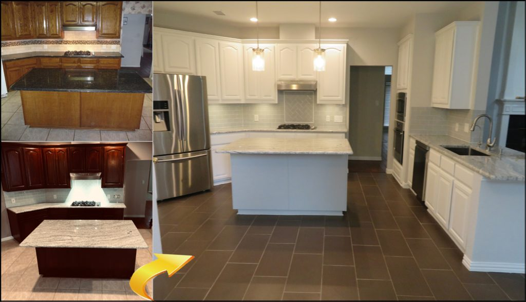 Kitchen Porcelain Tile Flooring Install